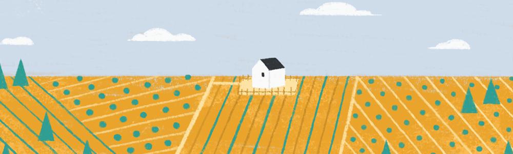 Ilustración de un campo