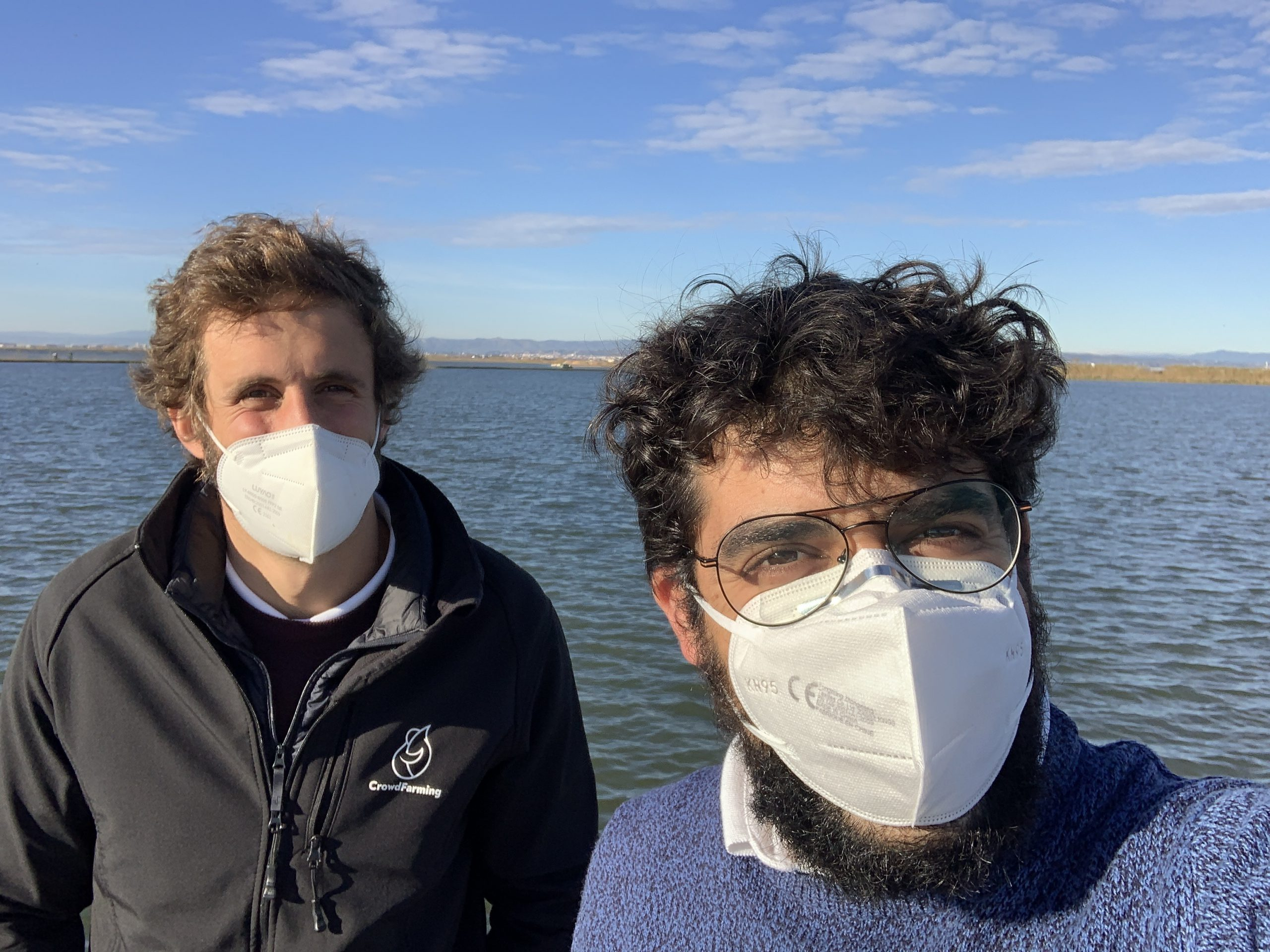 Juan Plasencia and Javi Tornos at the Valencia seaside